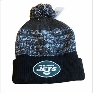 NFL NY York Jets Pom Knit Hat Beanie Adult OSFM